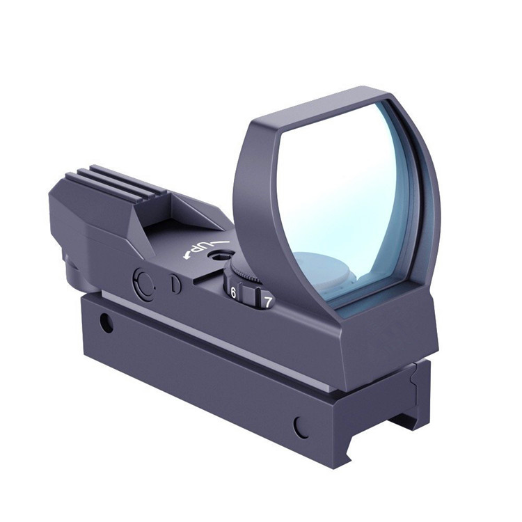 11/20 mm Rail Riflescope Holographic Reflex Red Dot Sights 4 Reticle Optics for Hunting, Black