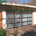 2018 Hot selling full view aluminum Glass 12x7 garage door