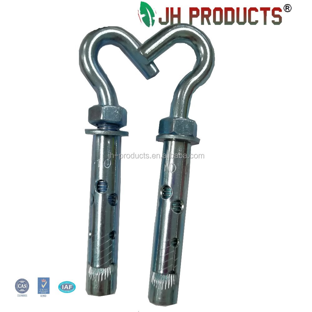High quality stainless steel small open head hook eye bolt m3 wedge anchor low price