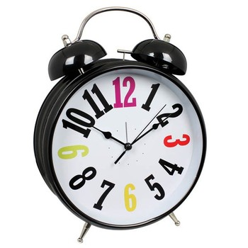 8 Inch Giant Metal Twin Bell Alarm Clock With Big Numbers