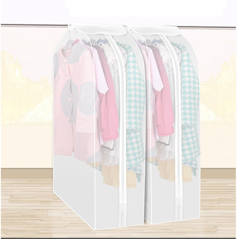 Get Quotations Yixin Set Of 2 Waterproof See Through Garment Bag Clothes Cover Duster Frosted Dress