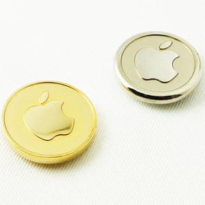 High Quality Magnetic Lapel Pins OEM Logo Pins Gold Silver Apple Logo Pins