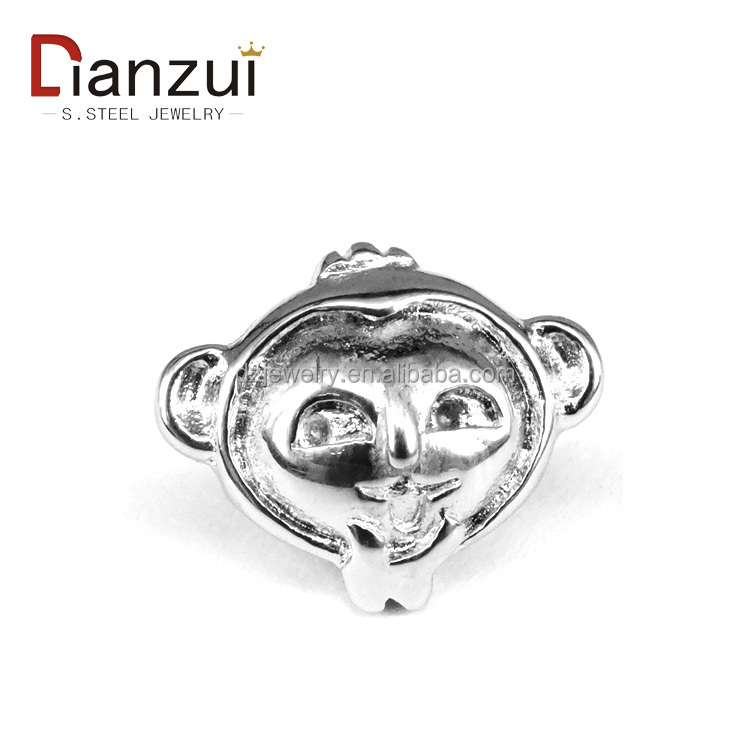 YZ1086 stainless steel animal beads monkey beads Twelve Chinese Zodiac Signs