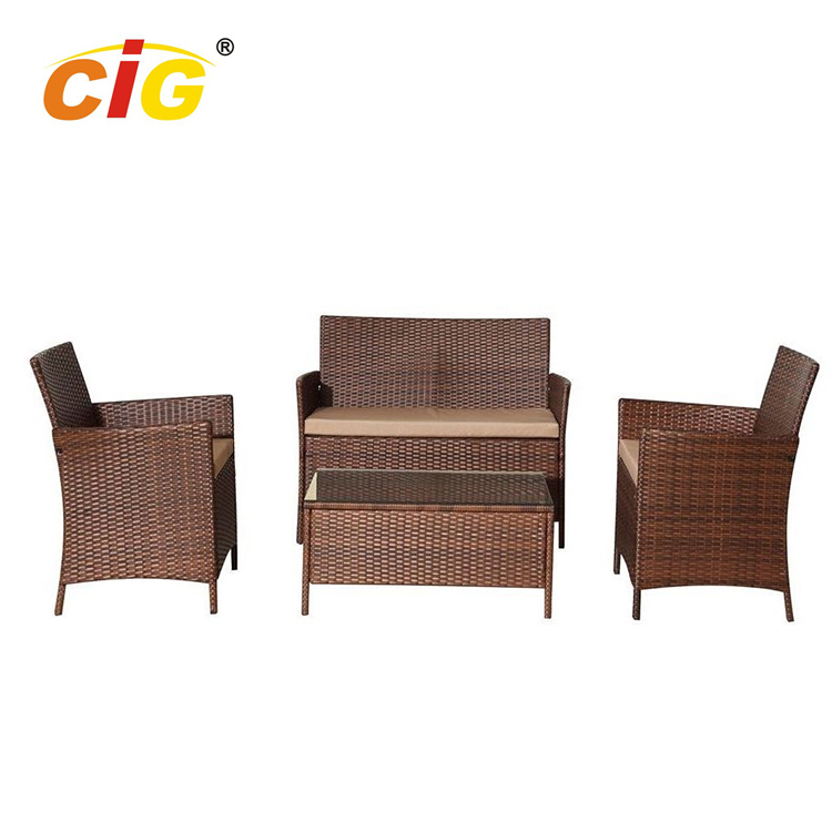 All Weather Attractive ridge outdoor rattan garden furniture tables chairs