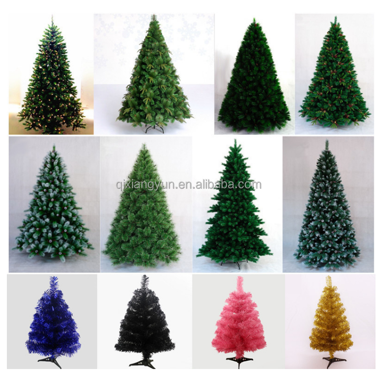 Christmas tree with metal base and factory price for Christmas tree decorations