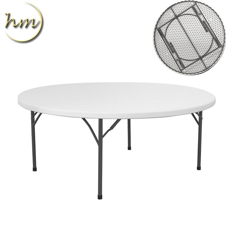 Folding Round Plastic Table For Wedding
