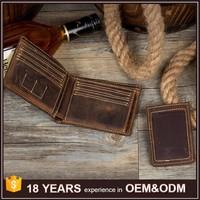 Top Grain Real Leather Custom Men Wallet Brands