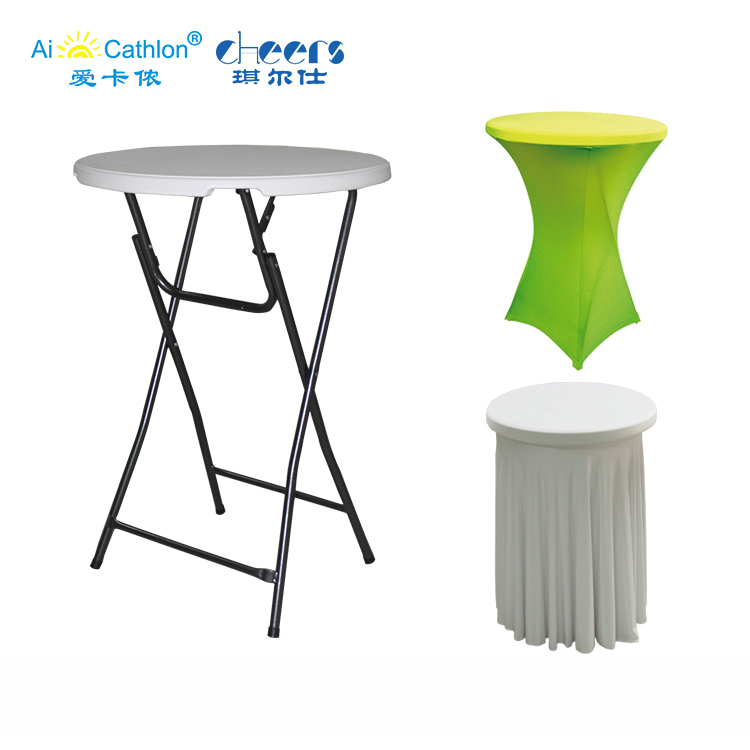 31.5'' High Folding Bar Table Round Folding Cocktail Table Lifetime