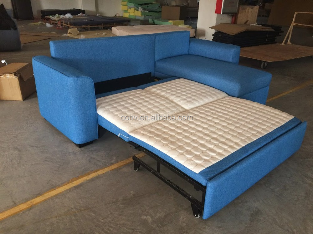 Living Room Furniture Sliding Corner Sofa Bed With Storage