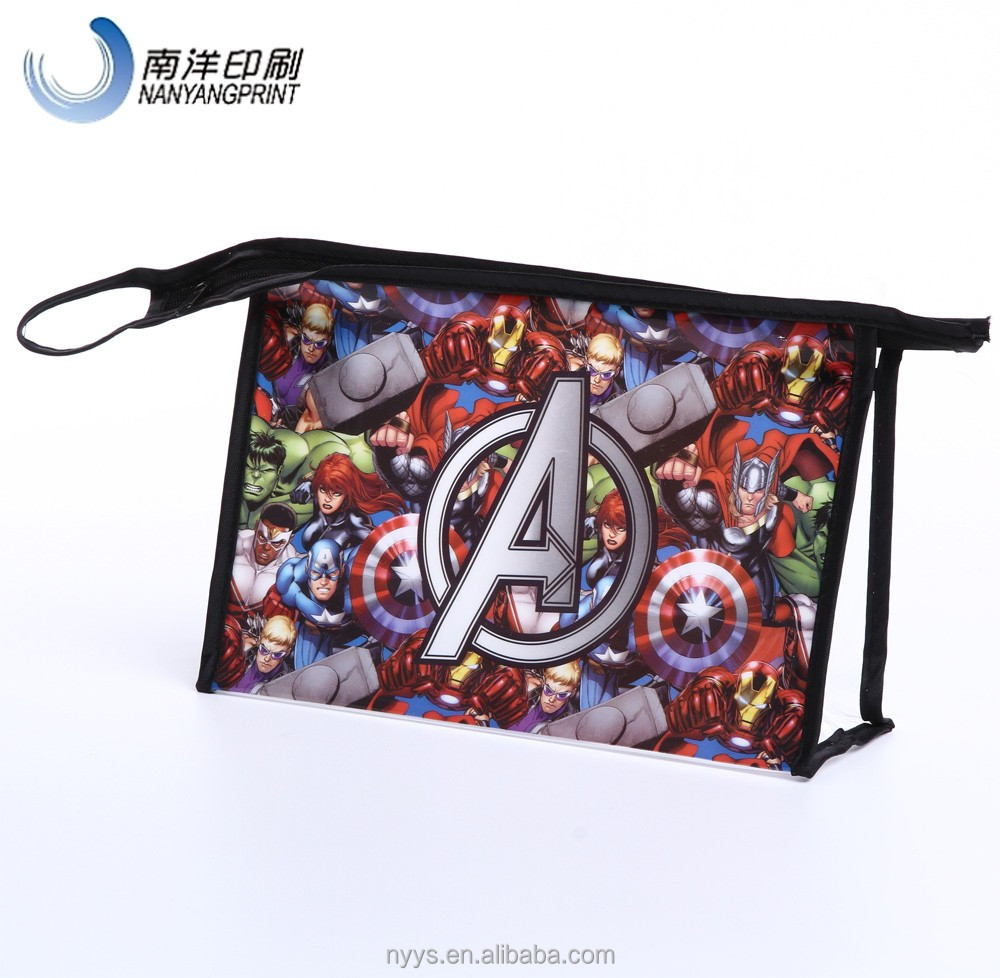 Customied Clear PVC Plastic Eco Zipper Top Fashion Cosmetic Bag