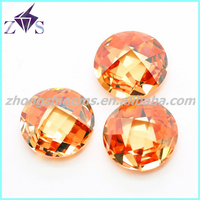 Hot Sale Product Round Checkerboard Cut Cubic Zirconia