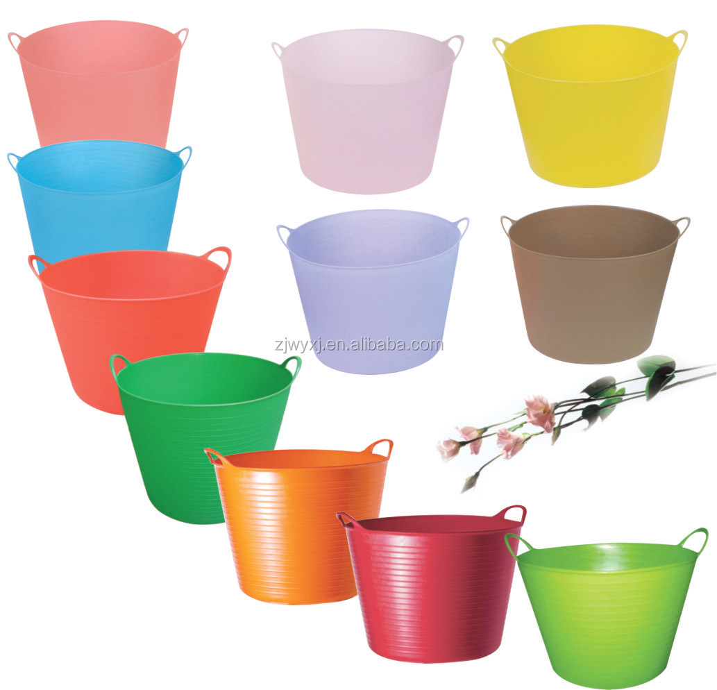 colorful PE tubtrugs,plastic flexible storage bucket,FlexBag,REACH