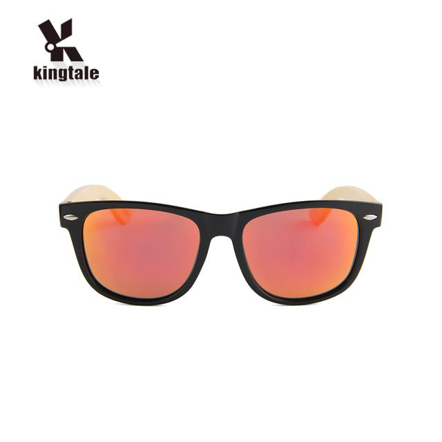 Kingtale color verdadero PC al por mayor gafas de sol de bambú 40ae93dd1823