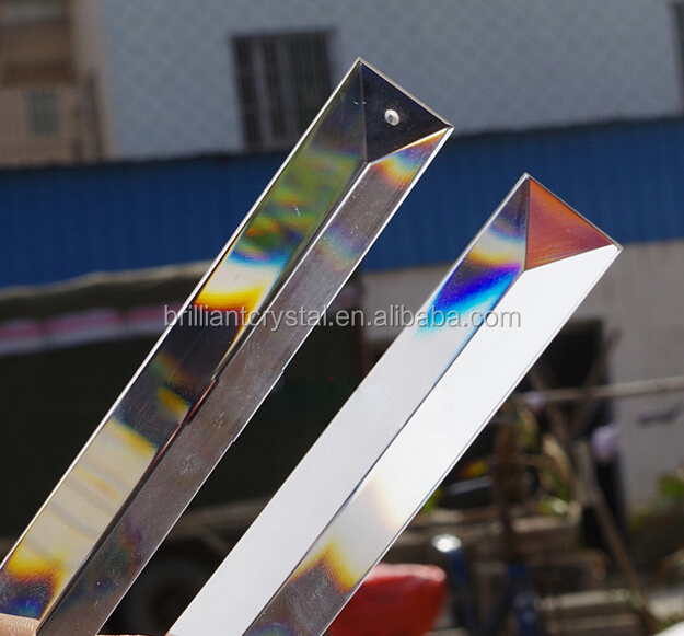Austria quality 300mm triangle crystal K9 chandelier prisms lamp parts