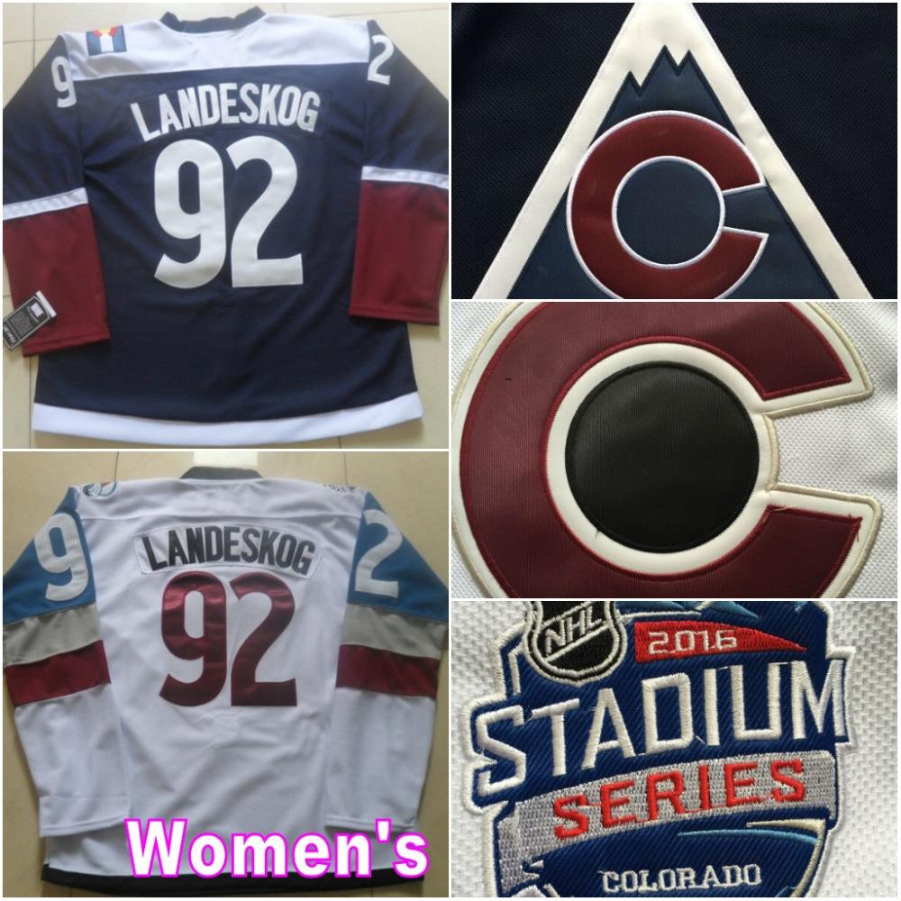 ce045ef8a ... 2016 Stadium Series Womens Colorado Avalanche Hockey Jerseys 92 Gabriel Landeskog  Third Navy Blue Stitched ...