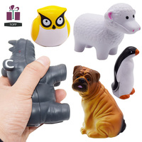 Animal Shape Polar Bear Black Cow Bull Camel Cat Chicken Dog Sheep Penguin Owl Fish Goat Mouse Sea Turtle Shark Stress Ball