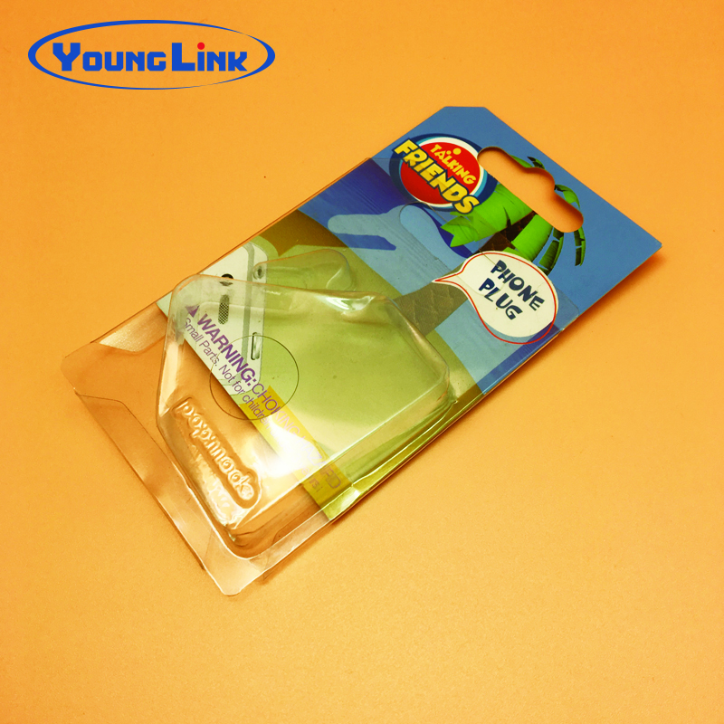 customized slide card blister packaging for phone plug