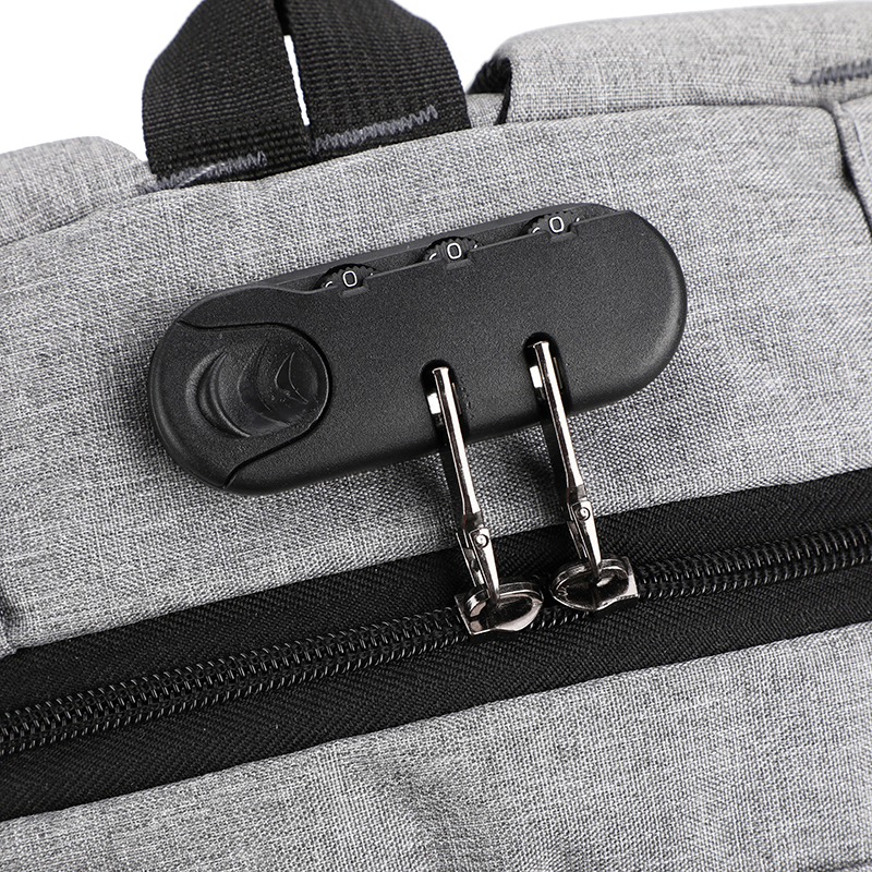 High Quality anti-theft Waterproof USB Backpack Laptop Earphone Hole Combination Zipper Lock Cable for 15.6inch mochila