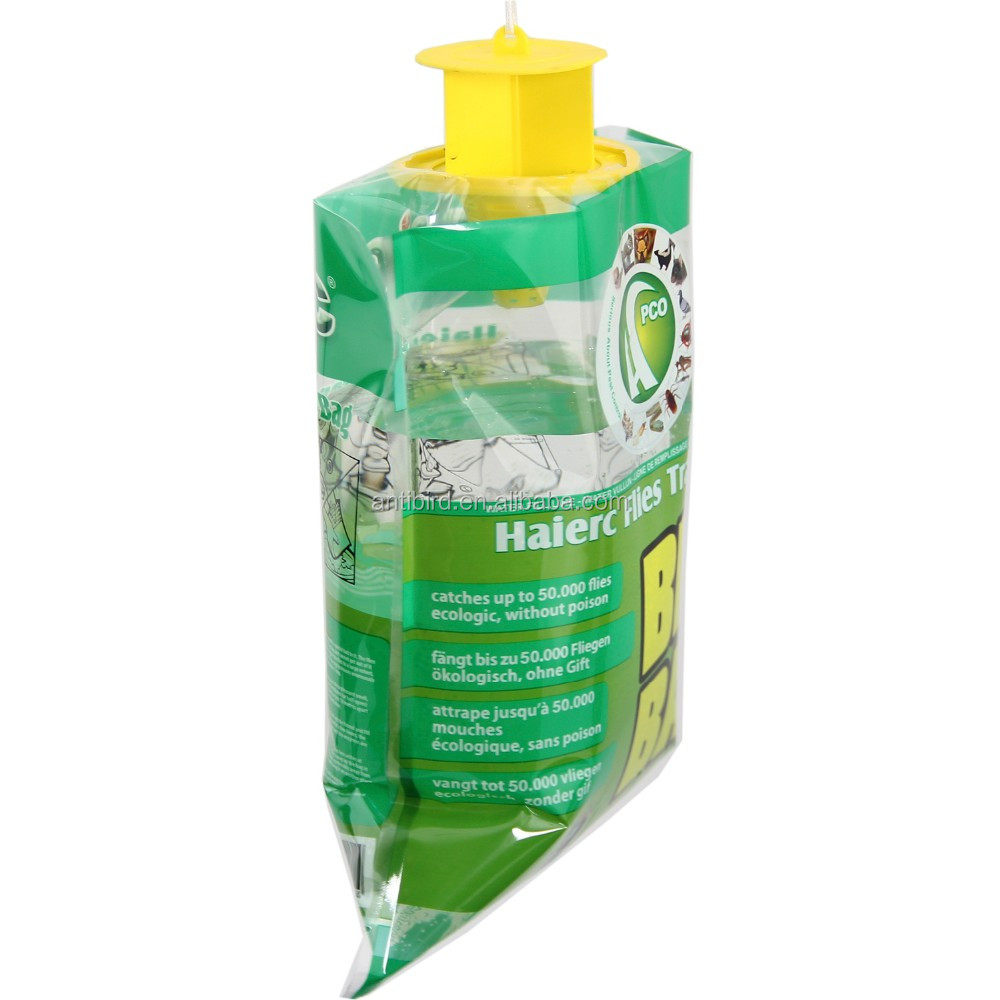 Disposable Hanging Fly bag Fly Catcher Fly Control Trap with Attractant