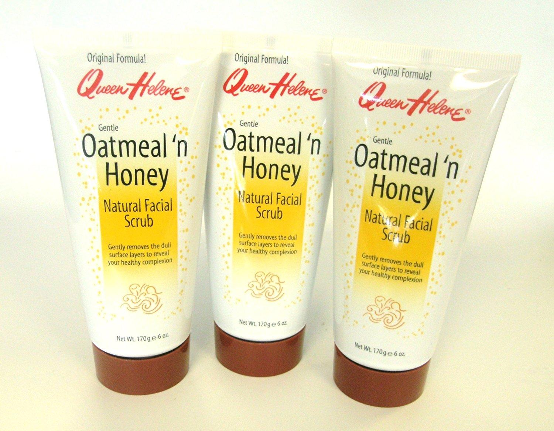 Queen Helene Natural Facial Scrub - Oatmeal 'n Honey (Set of 3)