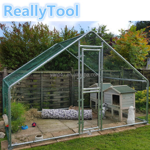 UK hot galvanized chicken coop rabbit cage large dog cage outdoor pet run cages hen house