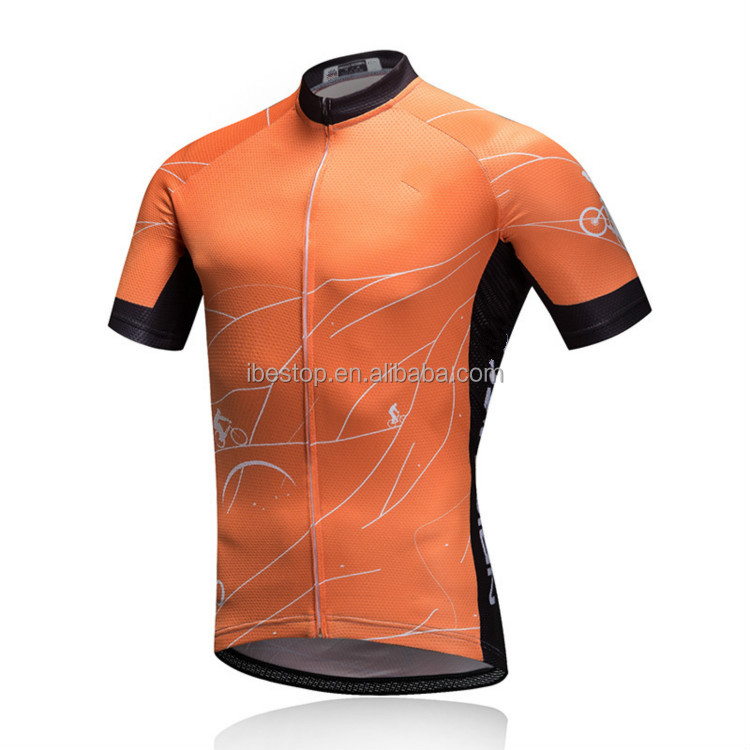 IBESTOP ciclismo cycling jersey 2018 pro teams classic cycling jersey orange