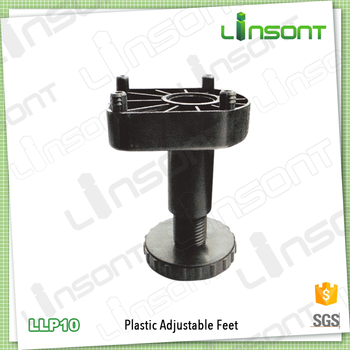 Linsont Durable Adjustable Furniture Leg Plastic Feet For Kitchen Cabinet  Legs