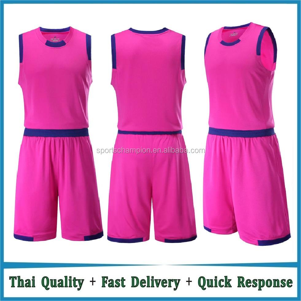 d4e9edb985c Orange / Red / White / Black / Pink / Blue Basketball Uniforms design blank  wholesale basketball uniform