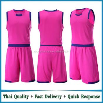 Orange Red White Black Pink Blue Basketball Uniforms Design Blank Whole