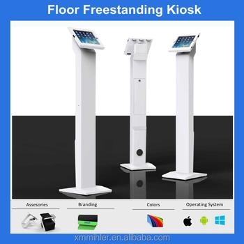 180 degree rotation retail lockable ipad floor stand tablet kiosk - Ipad Floor Stand
