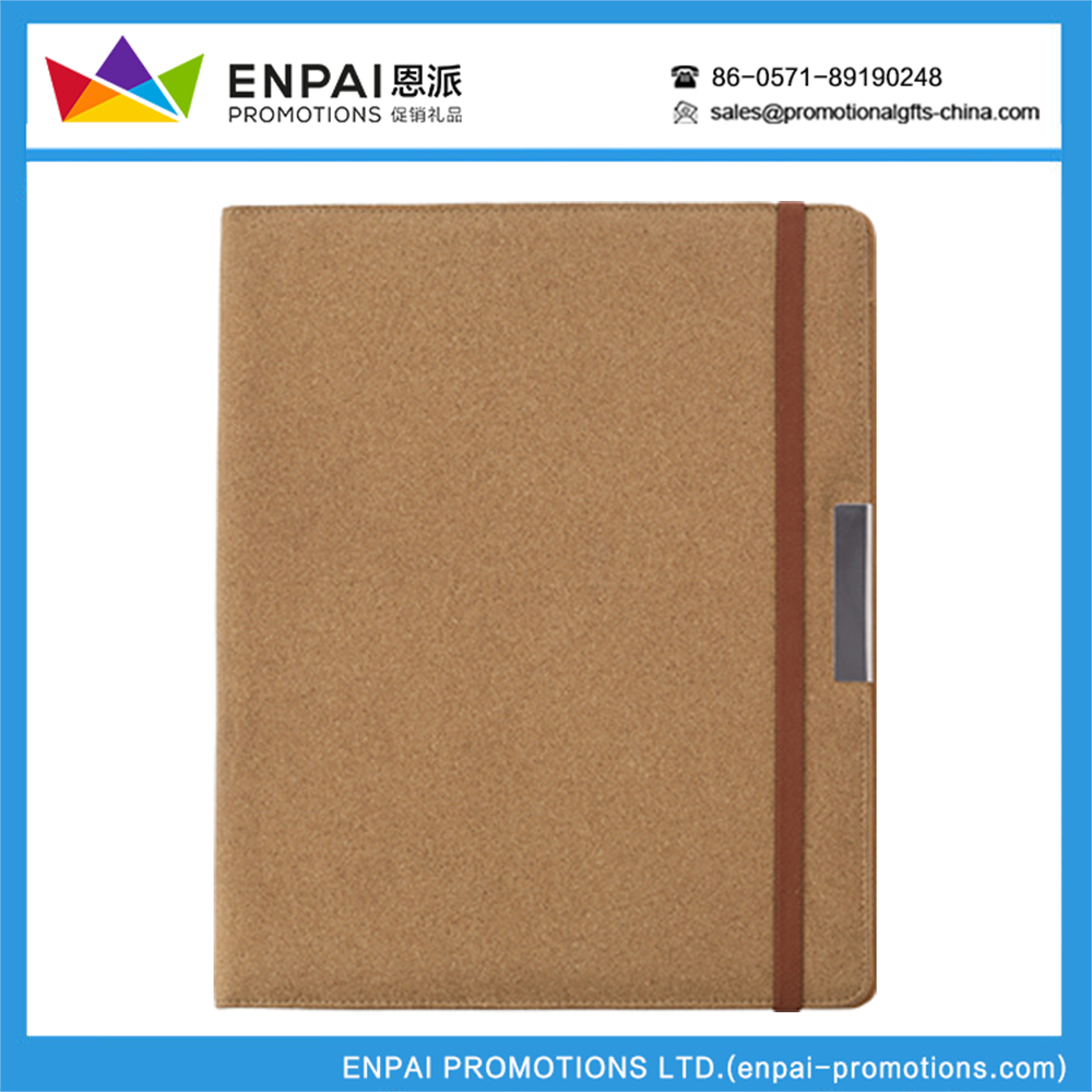 men portfolio 2017 hand made pu leather decoration file cover folder with bossing logo