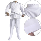 Light weight Martial Arts Suits White Karate Uniform Gi with free belt