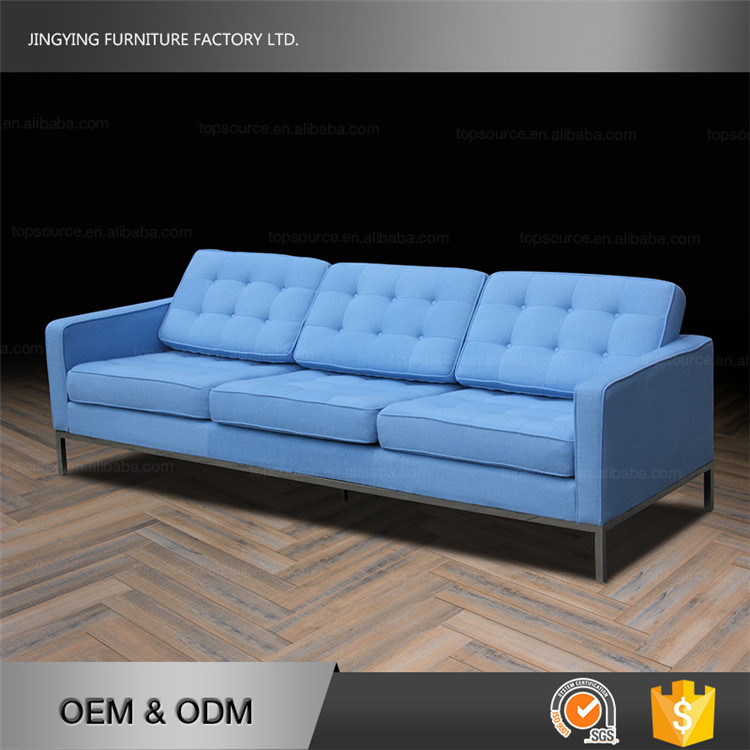 Blue Color European Style Fancy Florence Knoll Replica Sofa