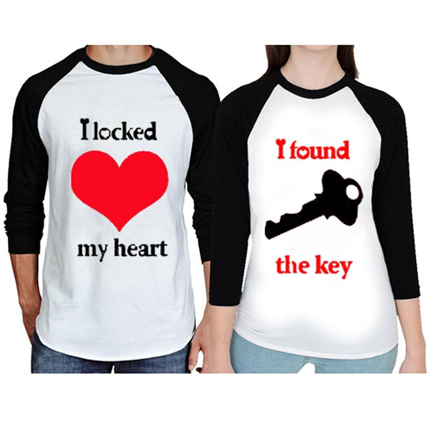 682d0b9b2 Get Quotations · Franterd Matching Couple Shirts - Couple Shirts For him  and Her - Valentine's Day Gift His
