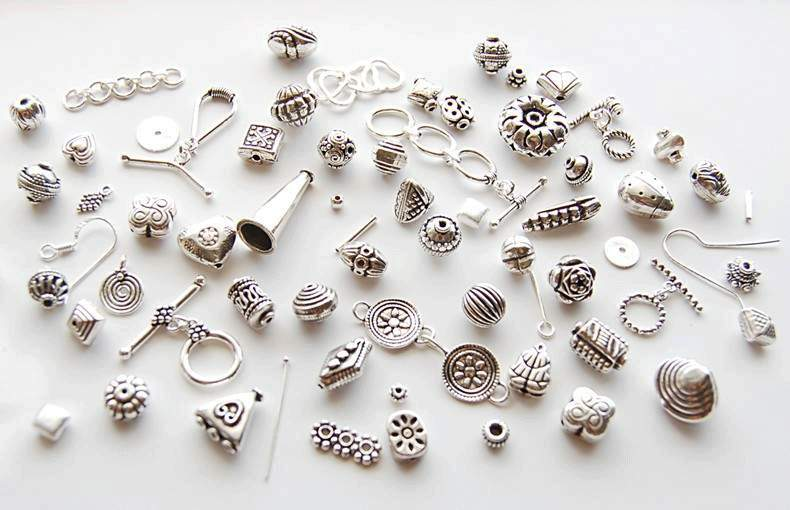 beading beads sterling ss silver round findings