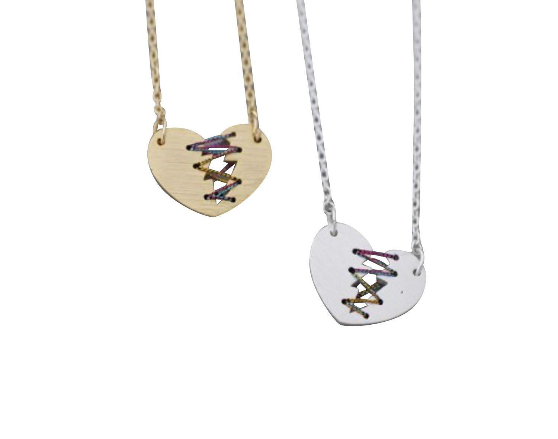 20a6794df4d3 Get Quotations · Heart necklace-ZC