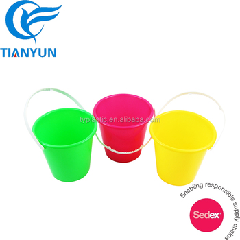 Hot Colorful Plastic Small Mini Kids Beach Buckets For