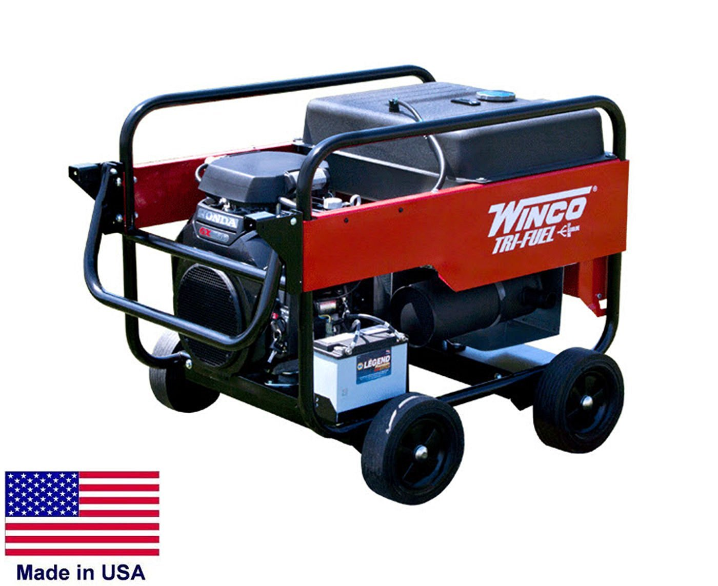 Get Quotations · Portable Generator Tri Fuel   12,000 Watt   120/240V   21  Hp Honda