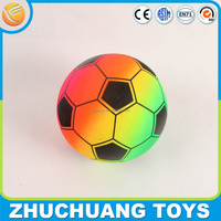 rainbow color wholesale lightweight football soccer ball