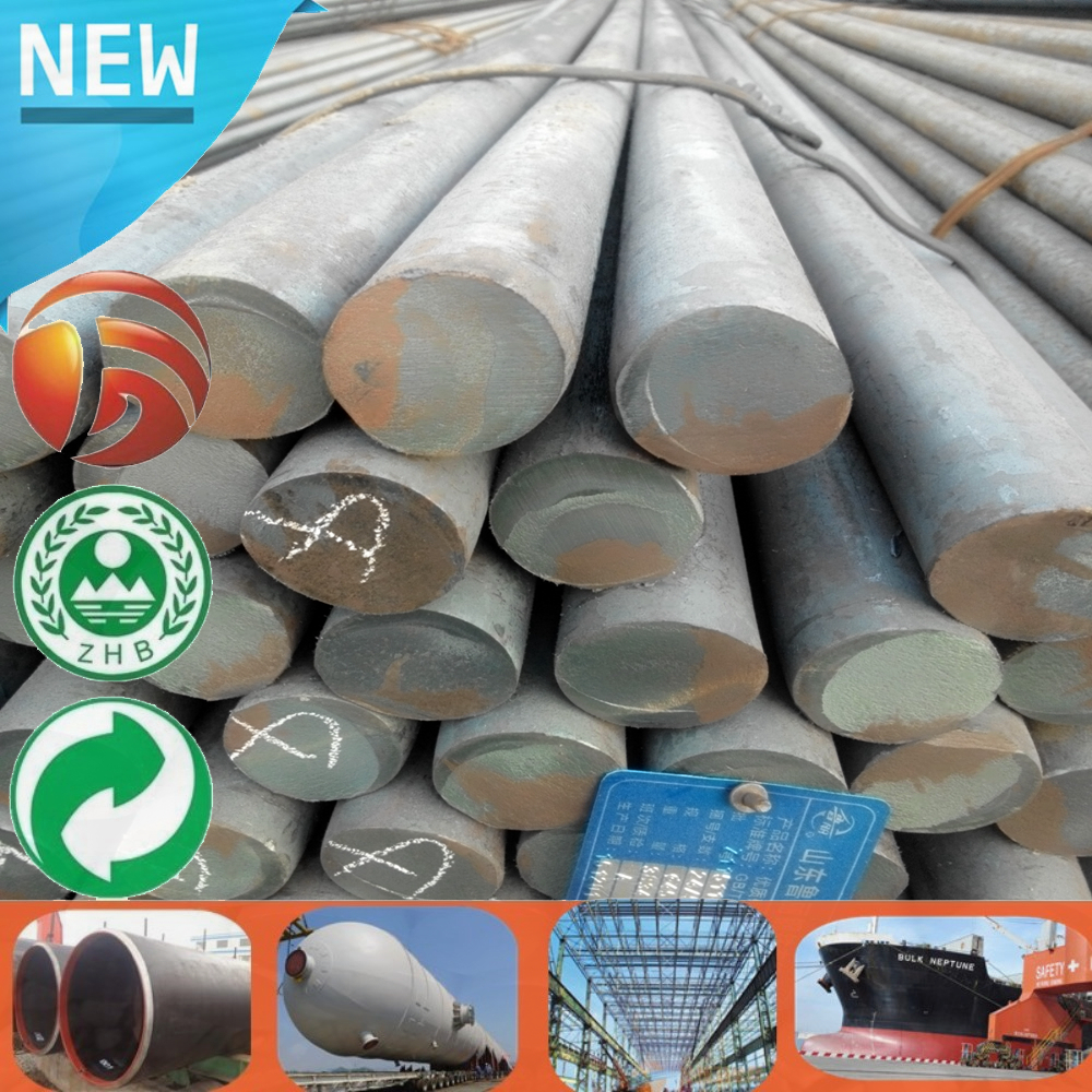Steel Solid Bar Stock Available free cutting large diameter steel forged rods Various size Round Bar galvanize round steel bar