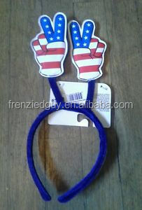fourth of july stripes peace sign custom head boppers
