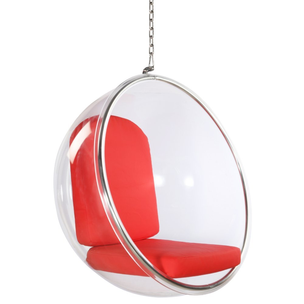Designer Modern Eero Aarnio Style Hanging Sexy Bubble Ball Chair with Red Cushion Brand New  sc 1 st  Alibaba & Buy Designer Modern Eero Aarnio Style Hanging Sexy Bubble Ball Chair ...