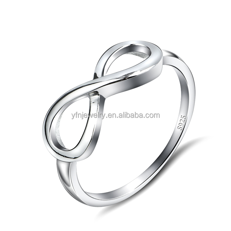 Wholesale 925 Sterling Silver Infinity Ring Silver Infinity Symbol 8