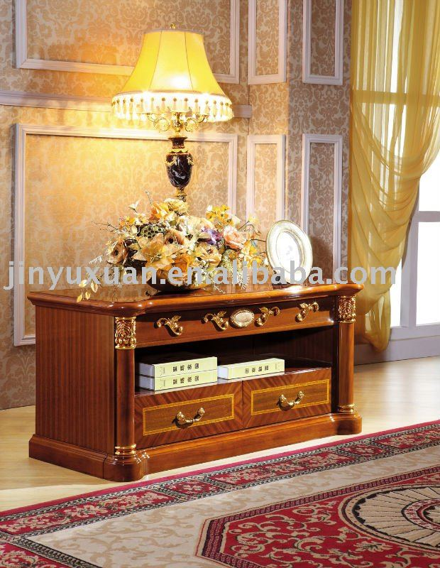 Factory Offer Sapelly Walnut Colour Polish Paint Classical Wooden TV Stand CDB-503#
