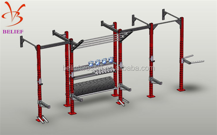 Building up a composite wall cross fit rack