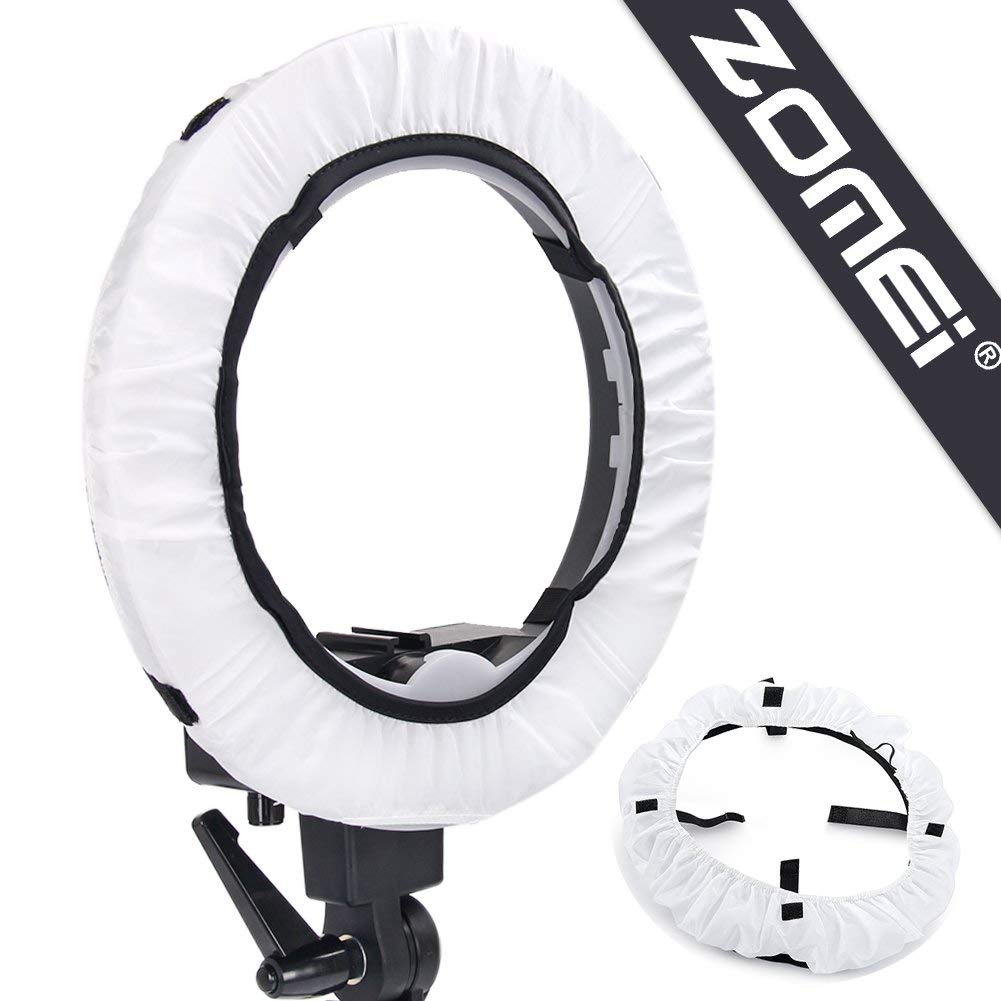 """Zomei 18 inches Soft Elastic Cover Collapsible Photography Video Light Softbox Diffuser for Zomei 18"""" Fluorescent LED Ring Light"""