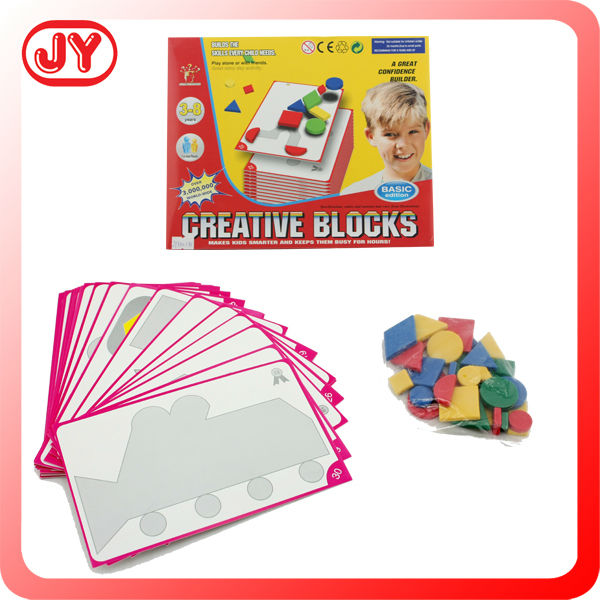 Cheap plastic jigsaw puzzle creative toys for kids