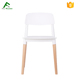 China Wholesale Stackable Modern Wood Leg Dining Plastic Chair