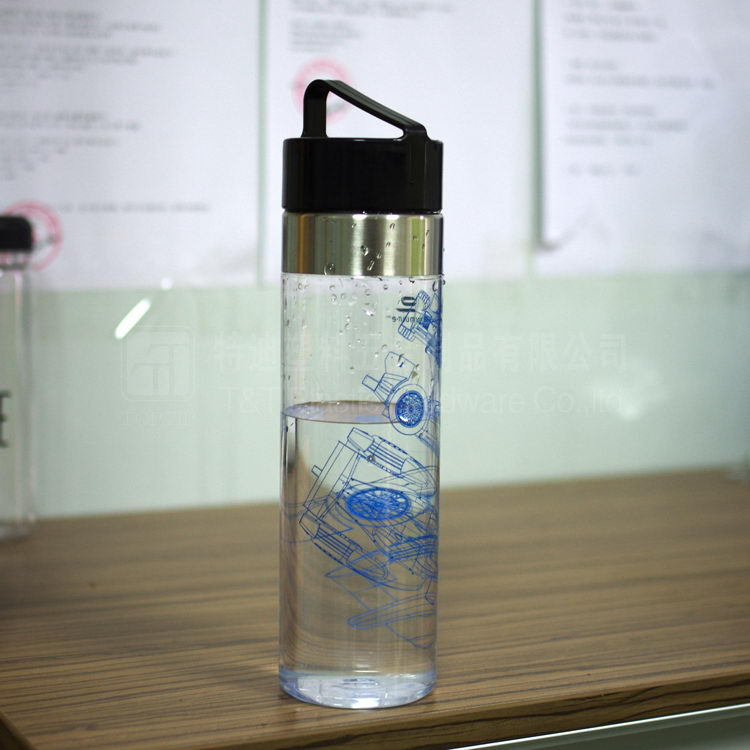 750ml Customized Promotional Gift Plastic Sports Bottle PC Water Bottle