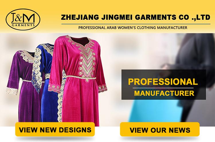 JM-16G zwarte kleur KS korea fluwelen stof Moslim kleding Dubai mode vrouwen Abaya Maxi Moslim dame Jurk